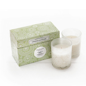 Circle Lace Boxed Candle Set of 2 - AllisOne